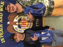 Seafarers sporting their new Christmas Backpacks